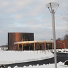 110129108e - Manassas, VA, Hylton Performing Arts Center on the Prince William Campus during winter. Photo by Evan Cantwell/Creative Services/George Mason University