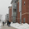 100216503 - Fairfax, VA, Students walking to class in the snow. Photo by Evan Cantwell/Creative Services/George Mason University