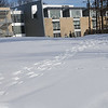 100202500 - Fairfax, VA, School of Art and Design Building in the snow. Photo by Creative Services/George Mason University