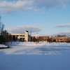 Fairfax Campus snow. Photo by Creative Services/George Mason University