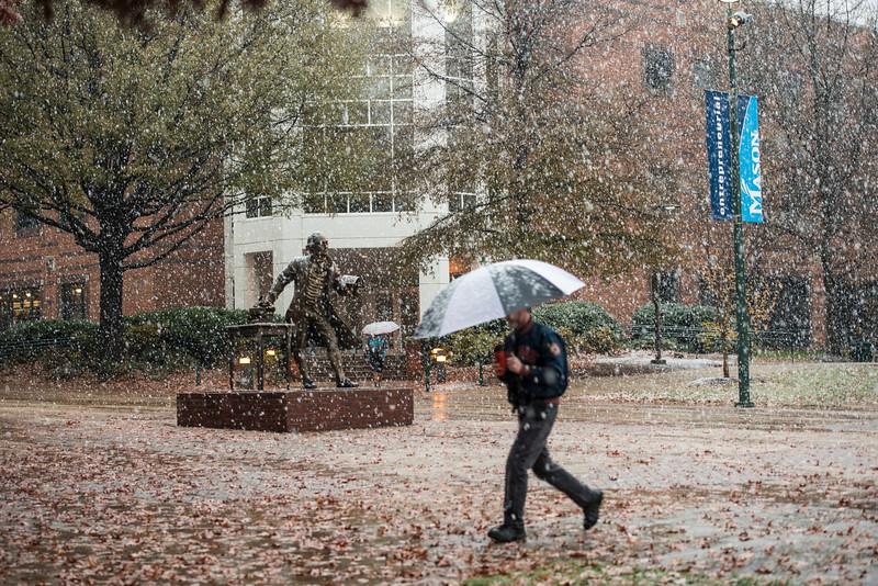 Snow at the Fairfax Campus
