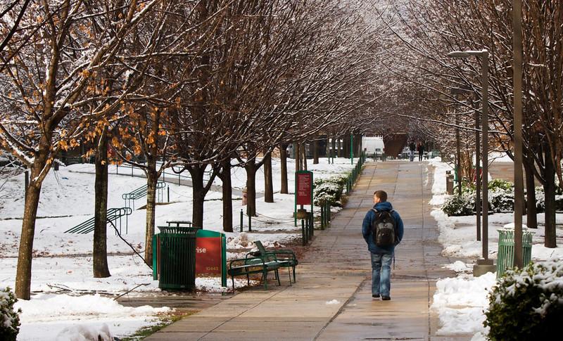 Winter Storm, Fairfax Campus,  Tuesday, Dec. 10, 2013