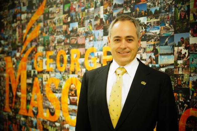 President Ángel Cabrera visits Mason Korea.  Courtesy of Mason Korea