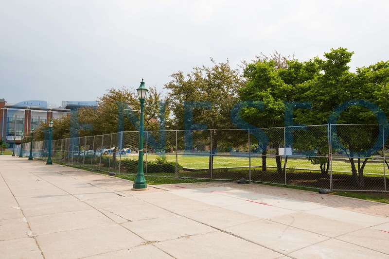 Summer 2017 campus infrastructure project fences raised KW