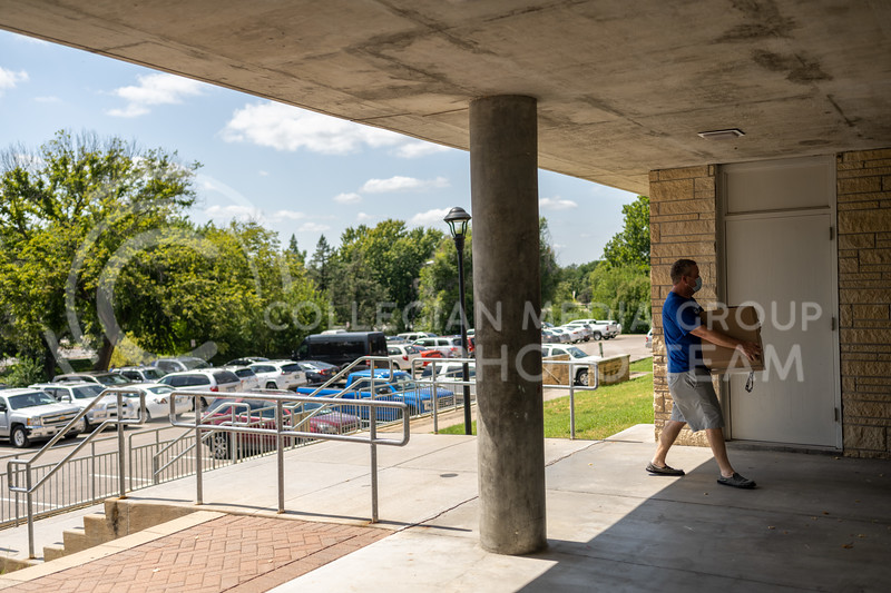 Residence halls move-in began on Aug. 9 this year. Students were asked to schedule a specific time to move in so that traffic through buildings were limited. That and many other rules were instituted as part of the campus-wide effort to prevent the spread of COVID-19 in the greater Manhattan area.  (Dylan Connell | Collegian Media Group)