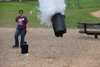 Exploding Trash Can