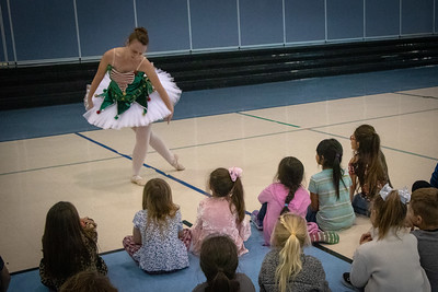 First and second graders at Klein Road Elementary were treated to a ballet presentation on Dec. 7. Music Teacher Cathy Clark invited Jordyn Giffen, who currently attends the 9th Grade Center and has a strong connection to Klein Road Elementary, to perform several dances for the students, including one from Swan Lake.  Giffen is a former student of Klein Road Elementary, and her mother, Maria Giffen, works at the school as an Instructional Aide.