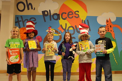 LSE students celebrate Dr. Seuss' birthday by reading their favorite Dr. Seuss book and dressing up on March 2