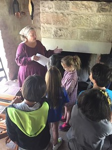 Ms. Bowers class learn about early settlement living in Texas during their visit to Heritage Village