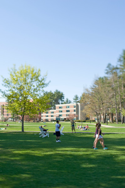 Campus scenes at Westfield State University, Spring 2013