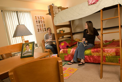 Interior views of the new apartments for WSC students at Landsdowne St.