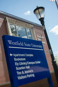 Campus buildings at Werstfield State University, May 2014