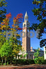 DSC_0289 UNC Bell Tower w fall trees v2