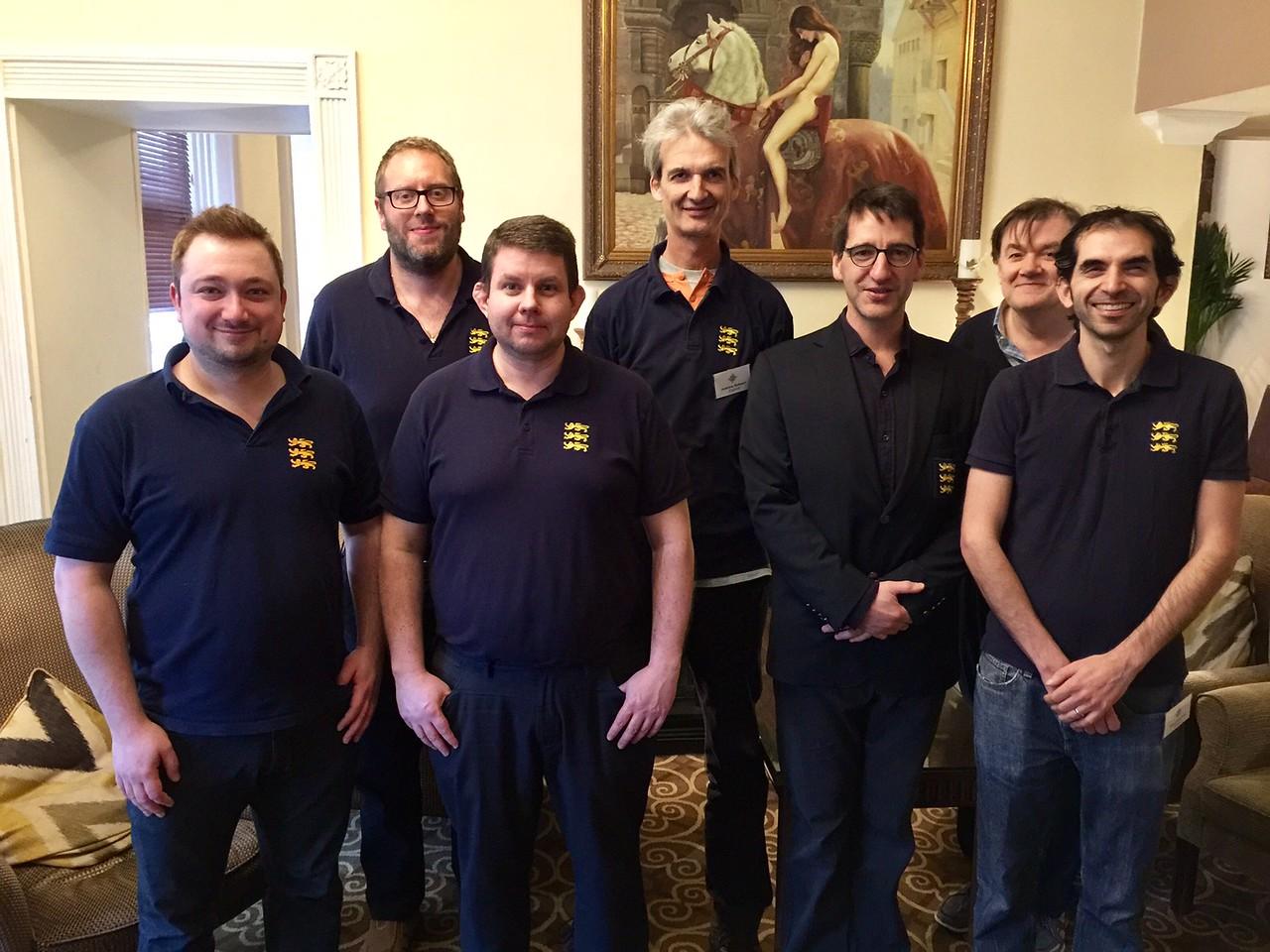 England team, Mike Bell, David Gold, Martin jones (NPC), Andrew Robson, Alexander Allfrey, Tony Forrester, David Bakhshi