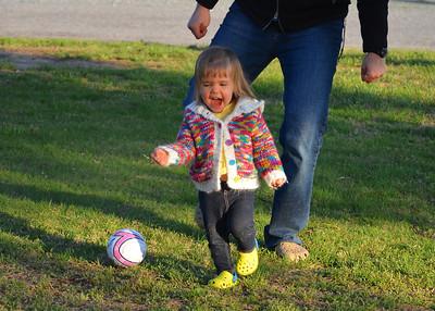 Soccer in the yard