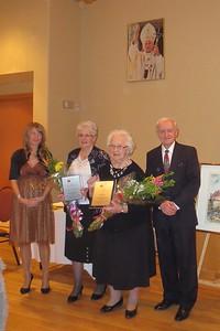 The honoured volunteers