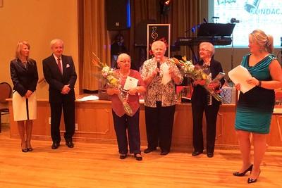 Honoring the the volunteers