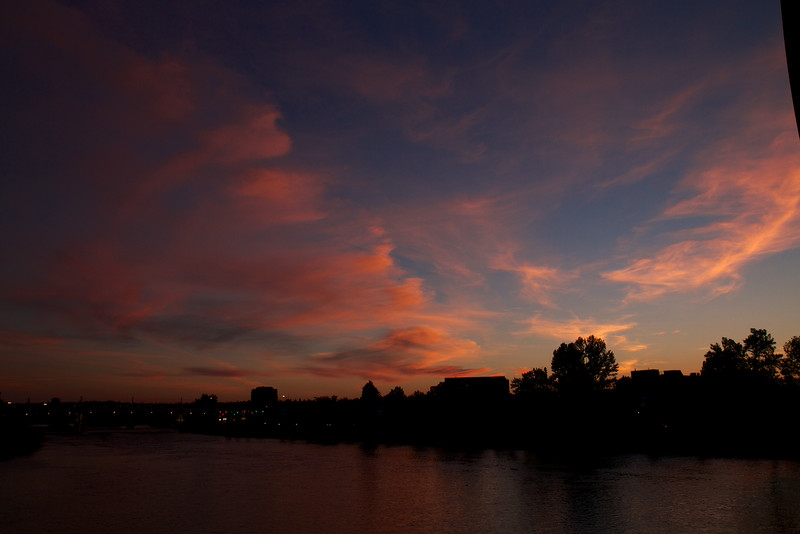 Sunset over the Bow River - August 10