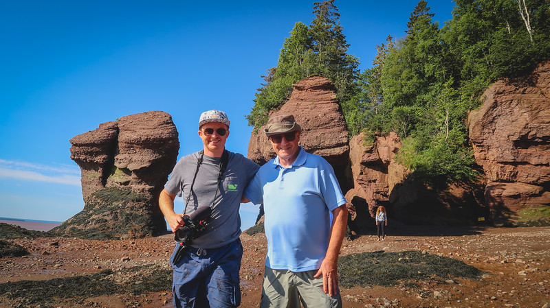 Sam and his dad at the Hopewell Rocks - the last stop of our New Brunswick road trip.