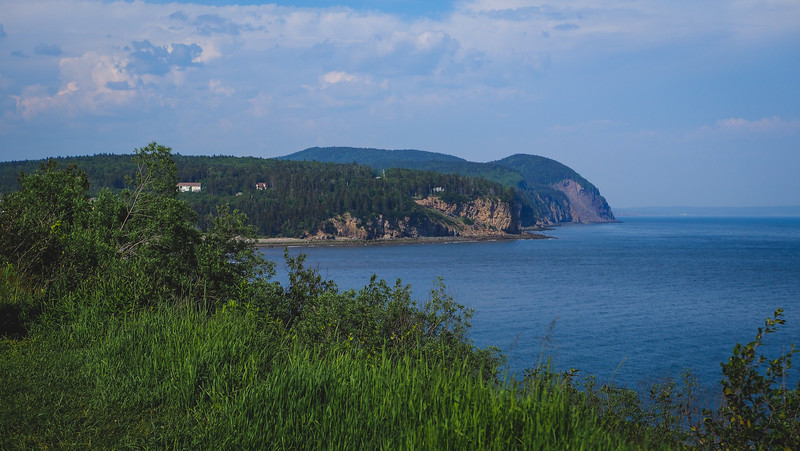 Views of the coast from Fundy National Park, New Brunswick