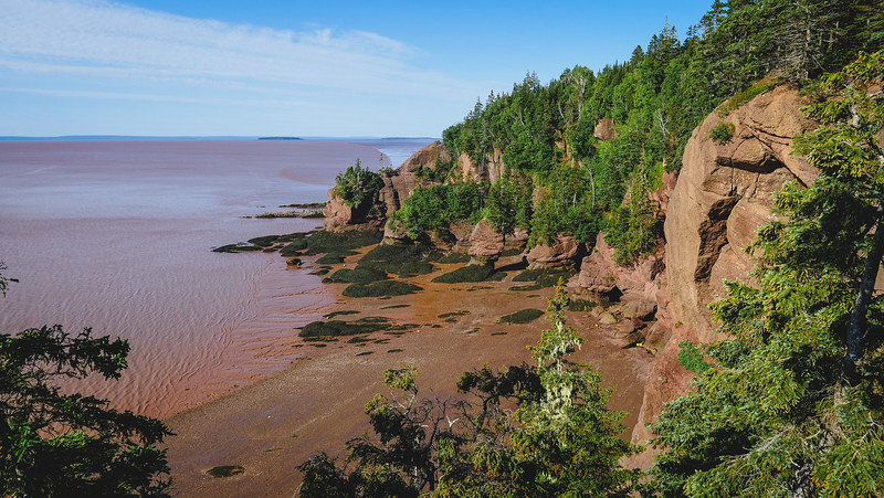 The Hopewell Rocks were another stop on our New Brunswick road trip