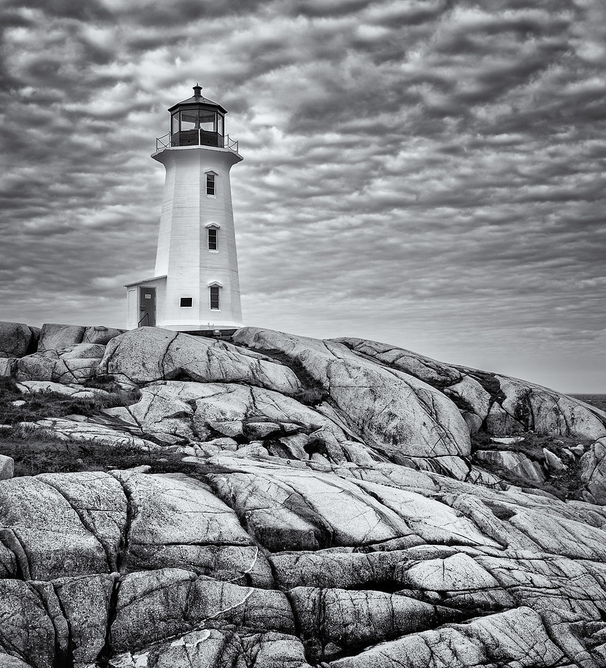 Peggy's Cove in BW