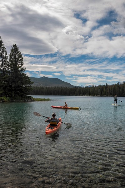 Kayaking the Waters, Lake Annette, Jasper National Park