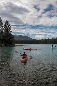 Kayaking the Waters, Lake Annette, Jasper National Park