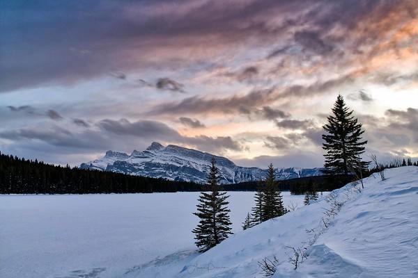 Two Jack Lake Sunset