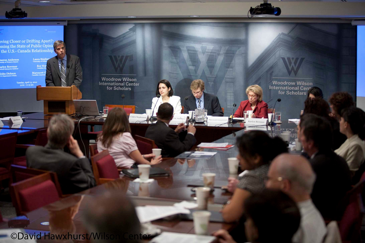 Moving Closer or Drifting Apart? Assessing the State of the US-Canada Relationship<br /> <br /> Speaker(s): Cameron Anderson, Karlyn Bowman, John Dickson, Laura Stephenson