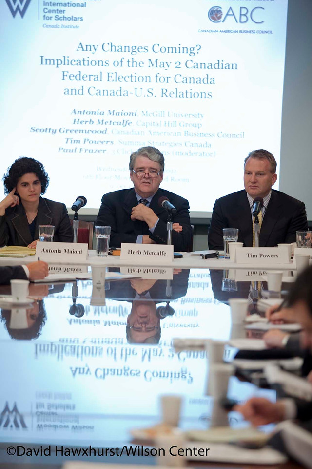 Any Changes Coming? Implications of the May 2nd Canadian Federal Election for Canada and Canada-US Relations<br /> <br /> Speaker(s): Antonia Maioni, Herb Metcalfe, Scotty Greenwood, Paul Frazer