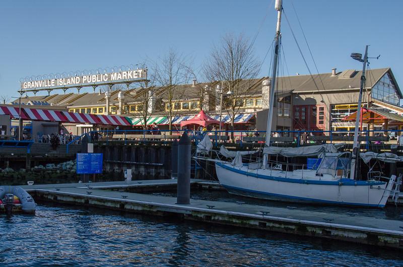 探索温哥华格兰维尔岛公共市场冬季