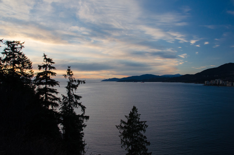 Sunset view of the Channel from Stanley Park, Vancouver | Things to do in Vancouver, BC