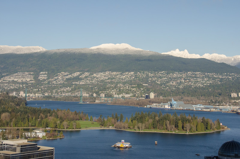 The view from Vancouver Lookout at Harbour Centre | Winter in Vancouver