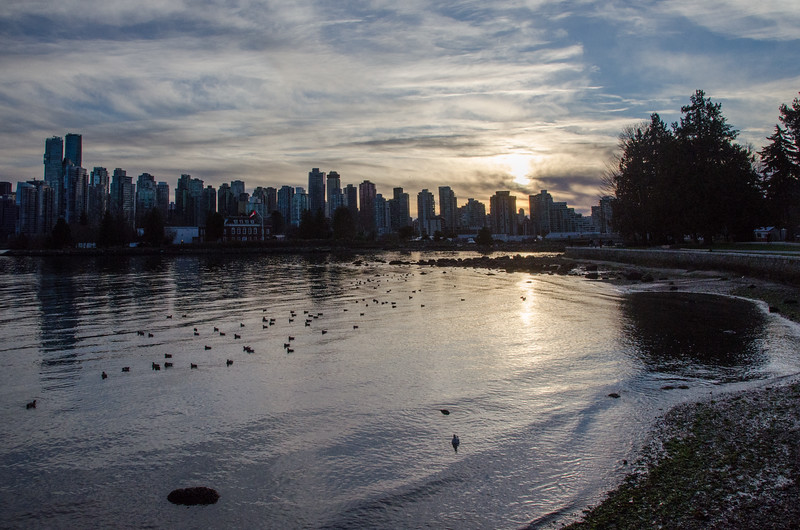 Sunset city view from Stanley Park | Best Views of Vancouver, BC