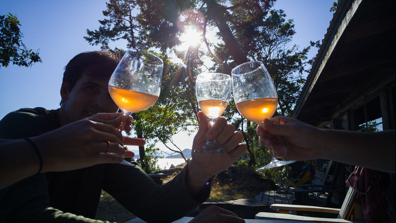 Cheers after a perfect day