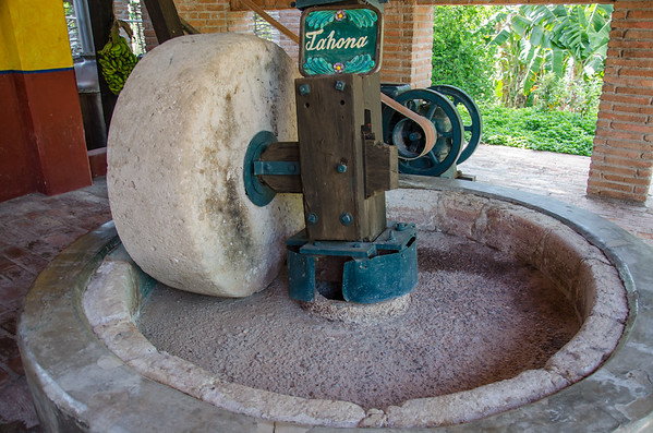 A traditional agave press | Learning how to make tequila at Vinata Los Osunas, Mazatlan