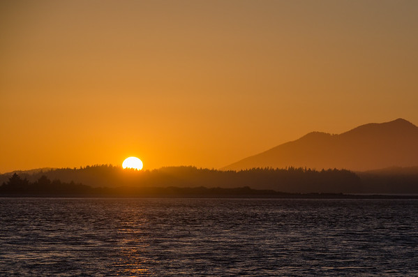 Sunset at the Tofino Harbor