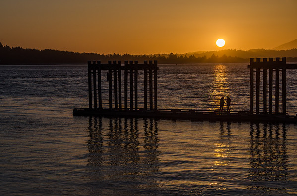 Sunset at the Tofino Harbor
