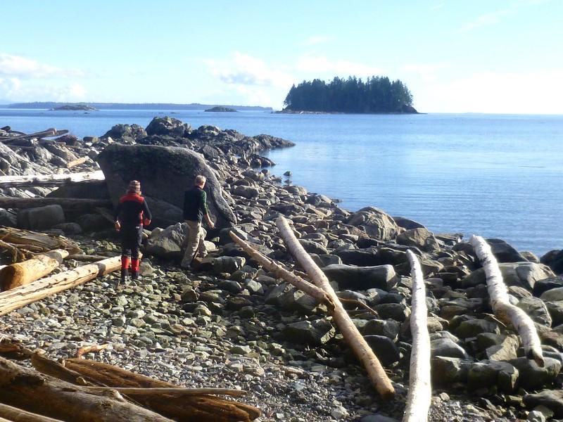 Exploring the shore