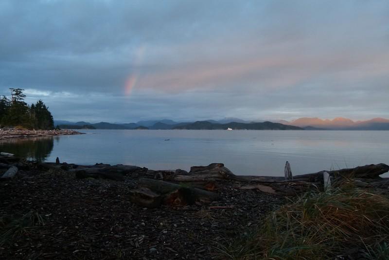 Rainbow and ferryboat