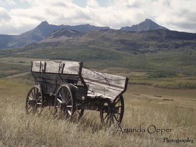 Abandoned wagon in Calgary