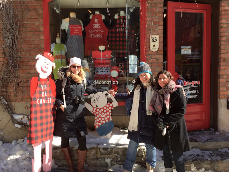 Brianne Miers, Fiona Chandra and Kristin Amico in Old Quebec City