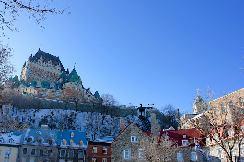 the Fairmont Le Château Frontenac in Quebec City