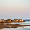 Sunset At St Andrews Harbor, New Brunswick with Pendlebury Light