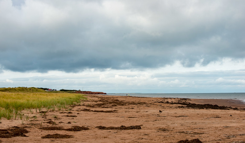 deserted Cavendish Beach