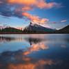 Vermillion Lakes at sunset