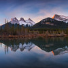 The mountains of Canmore<br /> 8 vertical frames exposure blended, landscape CPL
