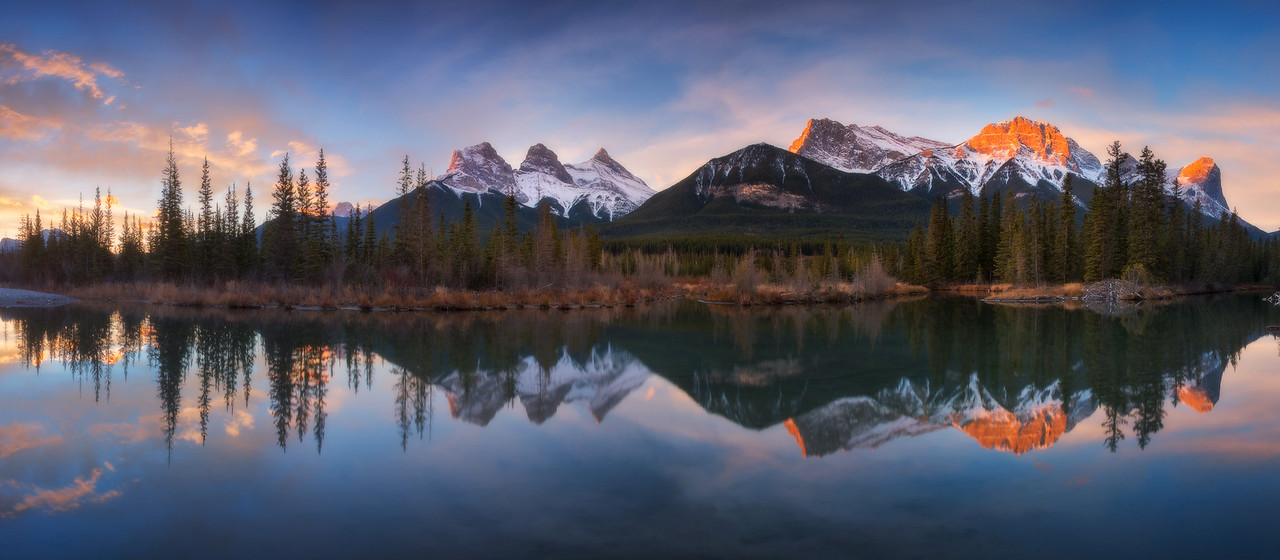Post glorious light at Canmore