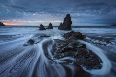 Rodeo Beach at dusk Landscape CPL, 4 stop soft GND
